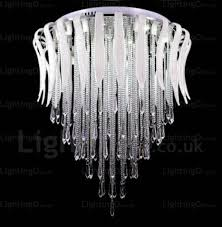 12 light modern contemporary ceiling lights with crystal shade for living room bedroom living