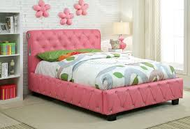 pink sensation full size bed with decorative bling accents bluetooth speakers