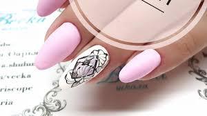 тату цветы простой и быстрый дизайн ногтей для начинающих мастеров