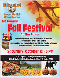Fall Festival Flier Missouri Forget Me Not Horse Rescue 1st Annual Fall Festival