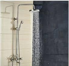 rainfall shower head brushed nickel wall mounted brushed nickel 8 rain shower head faucet tub mixer