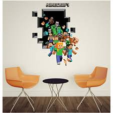 Home Decoration Accessories Wall Art Unique 32D Minecraft Wall Stickers For Kids Room Wallpaper Home Decoration