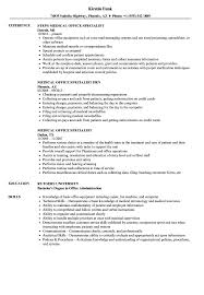 Medical Administrative Specialist Sample Resume Medical Office Specialist Resume Samples Velvet Jobs 6