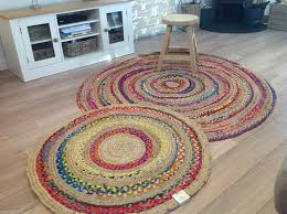 by large round rug sumptuous design ideas lovely hand loomed braided cotton jute multi colour rugs