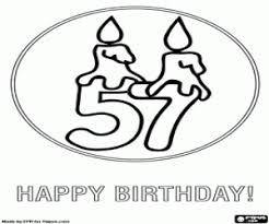 Kleurplaat Een Verjaardagskaart 57 Jaar Oud Kleurplaten