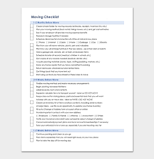 Checklist Template Word Moving Checklist Template 20 Free Printable For Word Excel Pdf