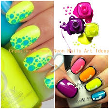 Creative Summer Neon Nails Art Ideas Celebrity Fashion Outfit
