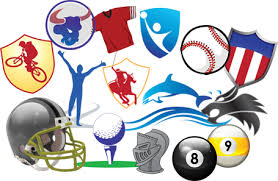 sports fan clipart. sports art. clipart graphic collection fan
