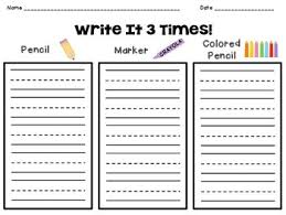 Write It 3 Times Sight Words Spelling Words Pattern Words Tpt