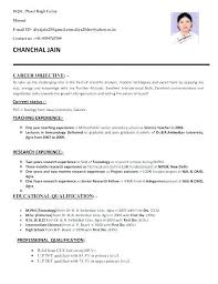 Latest Resume Format For Teachers Magnificent Resume Format For Bsc Zoology In 48 Resume Format Pinterest