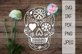 Use by itself or copy and mirror it for a toast. Free Sugar Skull Halloween Cutting File Svg Dxf Pdf Png Jpeg Crafter File