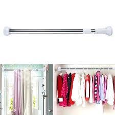closet organizer storage rack stainless steel bathroom shower curtain rod adjustable curtain tension rod clothes hanger