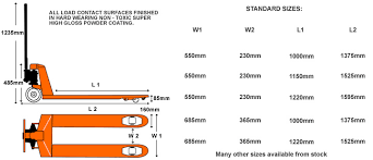 pallet jack dimensions. optional frame dimensions of our most popular hand pallet trucks jack 3