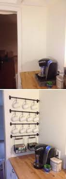 Coffee Cup Rack Under Cabinet 20 Creative Kitchen Organization And Diy Storage Ideas Hative