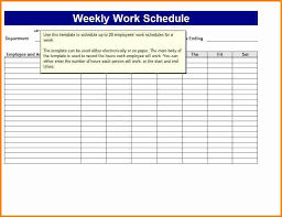 employee schedules templates 8 weekly work schedule template memo templates