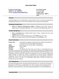 Fresher Finance Resume Format 4 Economics Technology