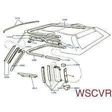 mustang convertible top weatherstrip retainer channel to frame convertible top weatherstrip retainer channel to frame seal 1983 1993