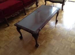 coffee table with removable glass top ball and claw feet coffee tables markham york region kijiji