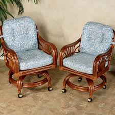 casual dining chairs with casters: leikela dining chairs with casters malibu seaside chair pair