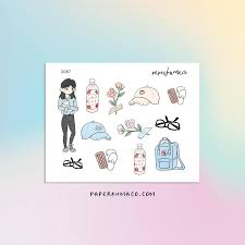 Aesthetic cute drawing Anime Aesthetic Cute Girl Stickers Paperkumaco Aesthetic Tagged