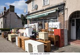 Secondhand furniture shop in Tottenham, London, England, UK - Stock Image
