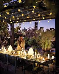 outdoor lighting ideas. ceiling lights such a lovely idea for an outdoor dinner party lighting ideas
