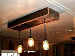 rustic diy ceiling light