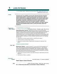 Preschool Teacher Resume Beautiful Sample Templates For Teacher ...