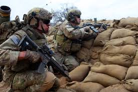 u s department of defense photo essay army rangers get on line to provide security and lay down suppressive fire during a live