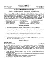 Manager Resume Objective Examples Project Manager Resume Objective