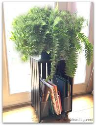 add a fern on top of the crate and some summer math books for the kids below voila