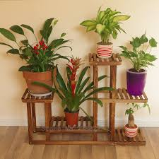 outdoor tiered plant stands wood modern patio outdoor