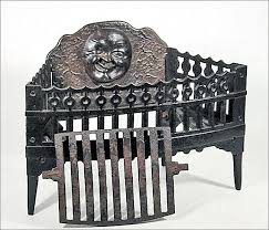 antique cast iron fireplace grate insert for wood or coal w with regard to grates modern