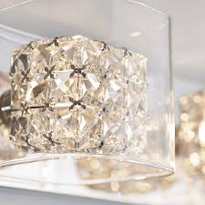 Artika 4 Light Crystal Cube Wall Modern Fixture Artika Amp110 Cca Crystal Cubes 4 Light Wall Modern Fixture