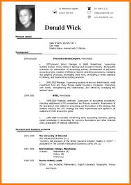 Form Cv Simple Cv Form Rome Fontanacountryinn Com