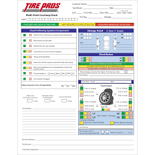 inspection sheet tire pros inspection sheets undercar version