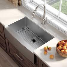 kraus standart pro 8482 30 inch 16 gauge single bowl stainless steel farmhouse