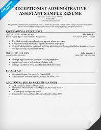 Examples Of Administrative Assistant Resumes Receptionist Administrative Assistant Resume Help Resumecompanion