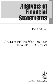 Financial Report Cover Page Title Page Analysis Of Financial Statements 3rd Edition Book