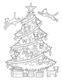 Printable Christmas Cat Coloring Pages Creativeinfotechinfo
