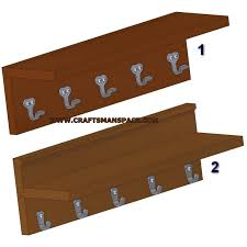vintage wall stand with coat hooks plans jpg