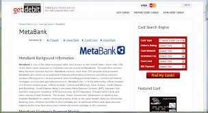 summary of metabank at getdebit