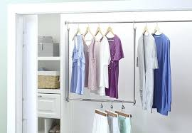 how to hang a closet rod closet with a double hanging rod hanging closet rod from
