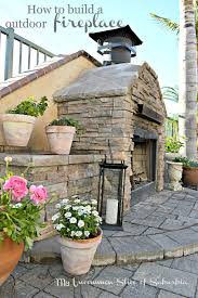 Build Your Own Outdoor Kitchen How To Build An Outdoor Stacked Stone Fireplace