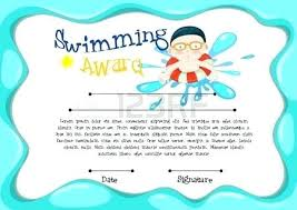 Swimming Certificate Pack 6 Certificates In All Personalize Print