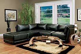 Impressive Black Leather Sectional Couches Sofa Set 5 Piece In Design Inspiration