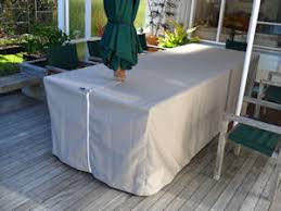cover for outdoor furniture. Canvas Outdoor Table Cover With Slot For Umbrella 3 Furniture