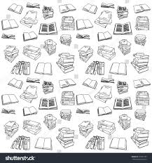 book drawing doodle icon background ilration