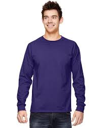 Fruit Of The Loom Stock Chart Fruit Of The Loom 4930 Adult Cotton Long Sleeve T Shirt