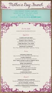 Mother S Day Menu Template Ce Labs Complete Digital Signage Solutions Mothers Day